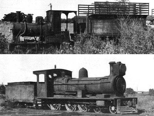Las viejas locomotoras de trocha angosta