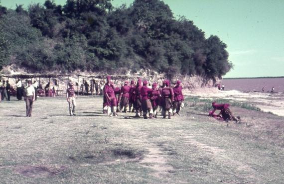 Imagenes de la filmacion de la batalla de obligado